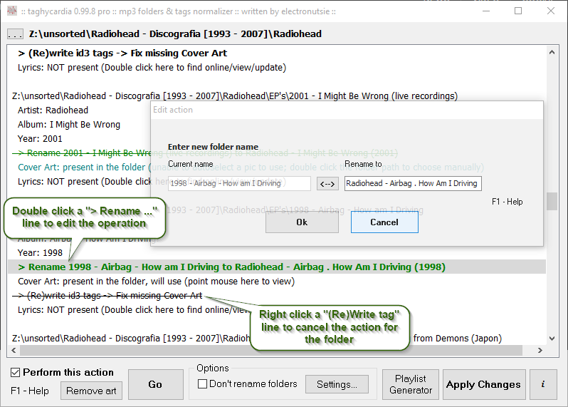 taghycardia :: mp3 folders & tags normalizer :: official website